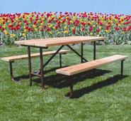 Camelback Series Wood Picnic Table