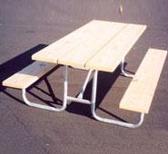 Traditional Wood Picnic Table