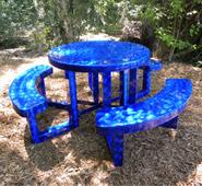 42inch Round Aluminum Picnic Table