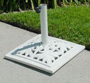 35 lb - 50lb Plastic Umbrella Base - Available in White or Beige