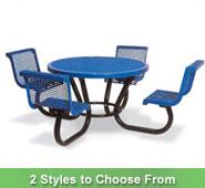 Portable Round Table with Chairs