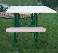 Natural Square ADA Wood Picnic Table