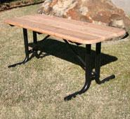 Natural Rectangular Wood Picnic Table
