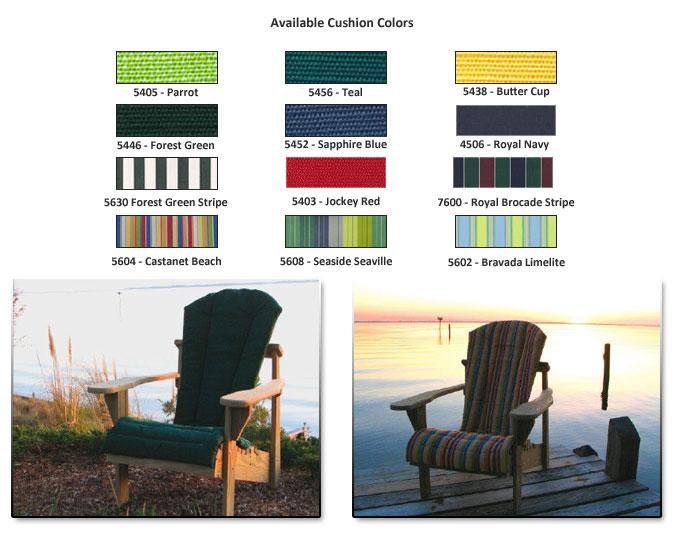 Adirondack Chairs Cushions - Outdoor Patio Furniture - Porch