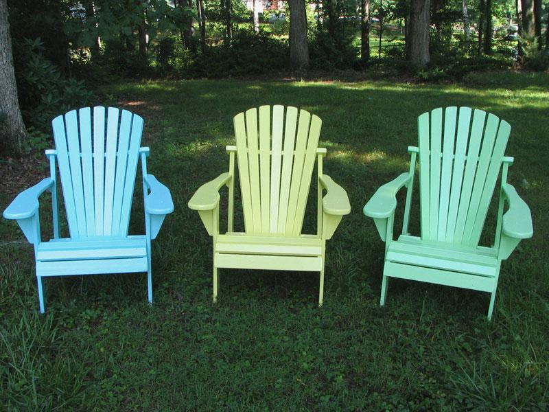 Weathercraft Painted Yellow Pine Adirondack Chair