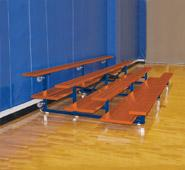 Powder Coated Tip-N-Roll Bleachers