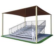 10 Row 21ft. 4 Column Bleacher Shade